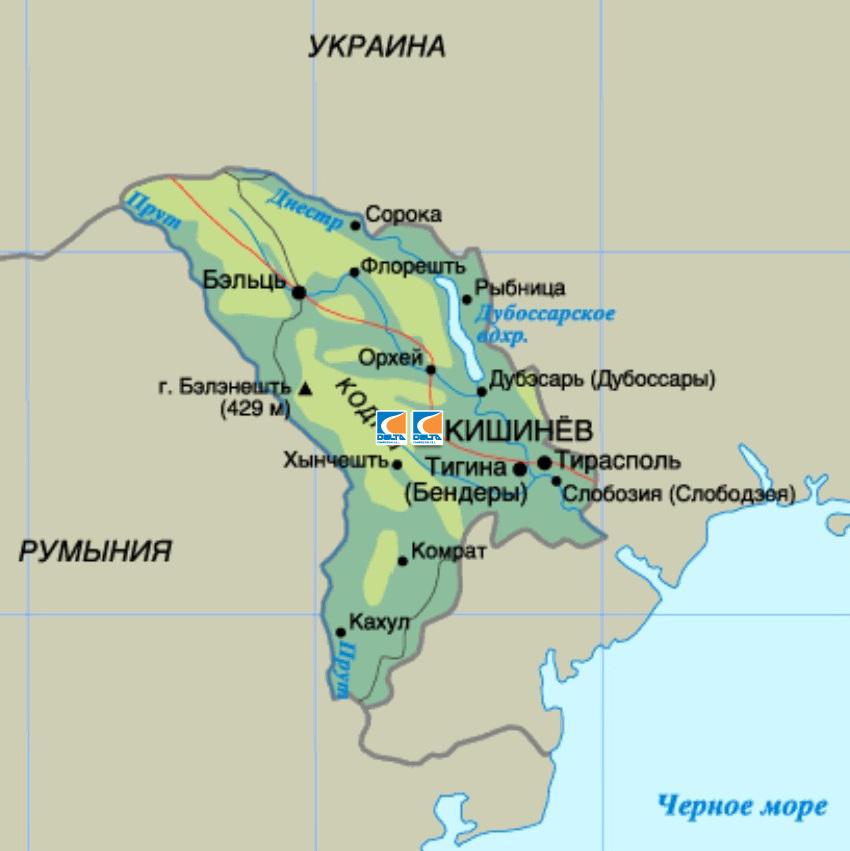 Сеть АГНКС в Молдове. CNG stations network in Moldova.