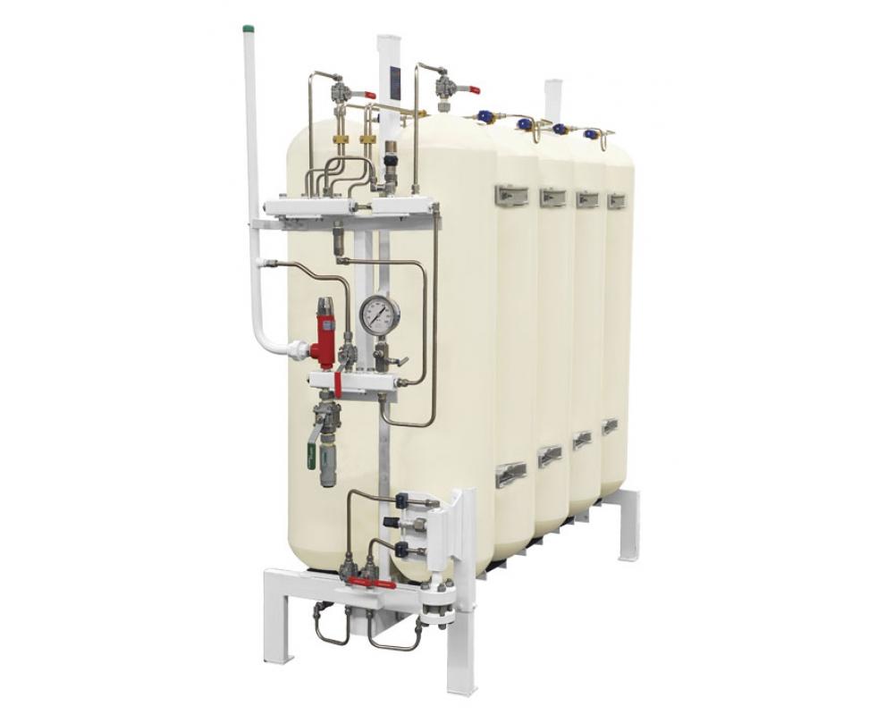 Аккумулятор газа. Хранение газа. Заправка газом. Метановая заправка. Компрессорная система. Набор цилиндров.