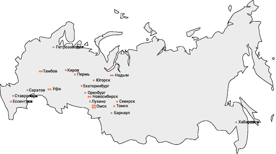 Сеть АГНКС, оборудование для АГНКС, АГНКС в России, карта АГНКС